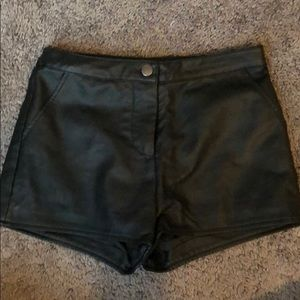 Forever 21 Leather Shorts (fake leather)